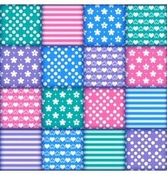 Set of 16 colorful seamless vector image