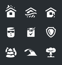 Set of insurance icons vector