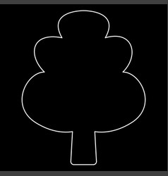 tree the white path icon vector image vector image
