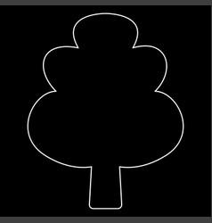 Tree the white path icon vector