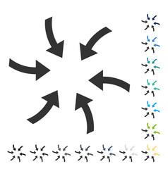 Twirl arrows icon vector