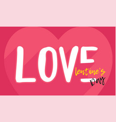 valentines day in love flat vector image