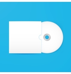 Compact disc empty mockup with cover vector