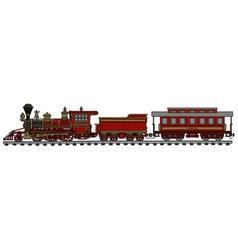 Vintage american train vector image