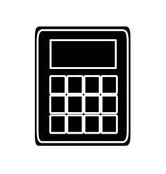 Calculator device icon vector
