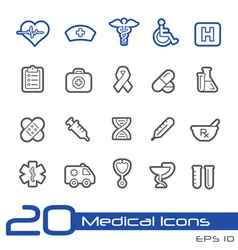 Medicine health care outline series vector