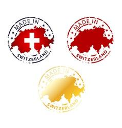 made in Switzerland stamp vector image