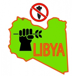 Stop military operations in libya vector