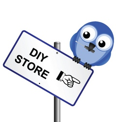 bird sign DIY vector image