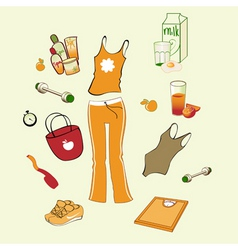 Womans health lifestyle vector