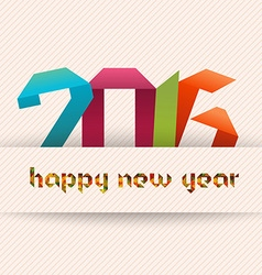 Happy new year 2016 banner origami and geometrical vector
