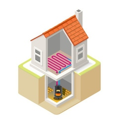 Energy chain 07 building isometric vector