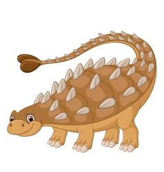 Cartoon happy ankylosaurus vector