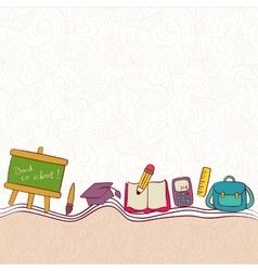 Back to school and looking design layout vector