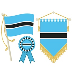 Botswana flags vector