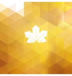 Autumn sun triangle background eps 10 vector