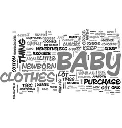 Baby clothes essentials you cannot do without vector