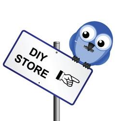 bird sign DIY vector image