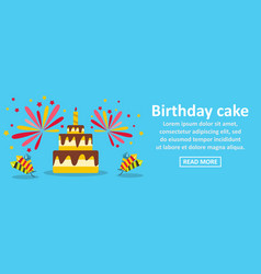 birthday cake banner horizontal concept vector image vector image