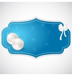 Christmas oval sticker made in the style of blue vector image vector image