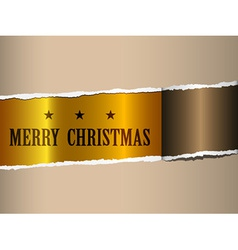 Christmas ripped paper vector
