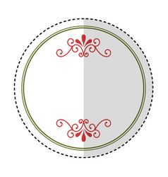 Circle seal stamp frame vector