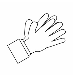 Clapping applauding hands icon outline style vector