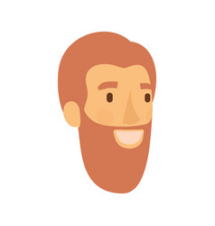 colorful silhouette of man face with reddish hair vector image