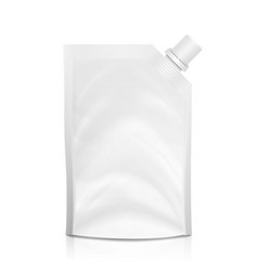 doy-pack blank white clean doypack bag vector image