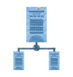 Drawing tower computer hardware technology vector
