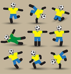 Football players silhouettes use for soccer sport vector