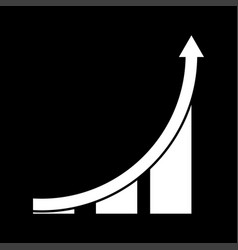 graph it is icon vector image vector image