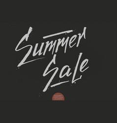 hand drawn lettering - summer sale elegant modern vector image vector image
