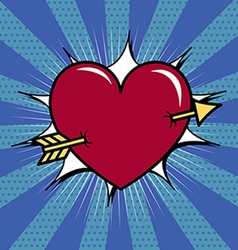 Heart pierced with arrow vector