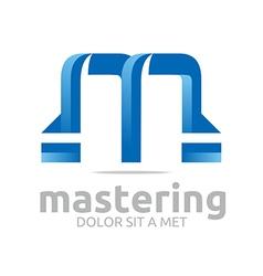 letter m lettemark design vector image