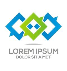 Logo talk box stylised vector