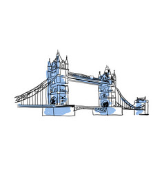 london bridge hand drawn isolated icon vector image