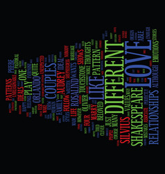 Love is as you like it text background word cloud vector