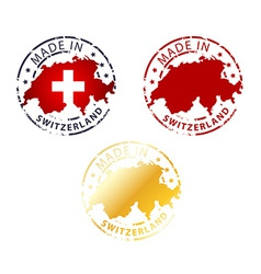 Made in switzerland stamp vector