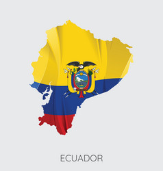 map of ecuador vector image