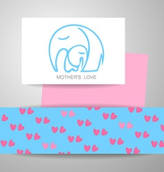 Mom love logo vector