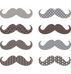 Mustaches pattern set vector