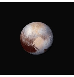 realistic planet Pluto vector image vector image