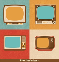 Retro Television Icons vector image vector image