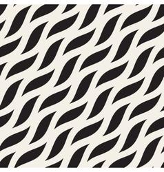 Seamless diagonal wavy shapes pattern vector