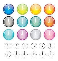 Set of watches sphere icons vector image