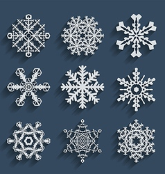 Snowflakes icon set collection vector image vector image