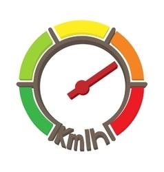 Speedometer icon cartoon style vector image