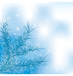 Blue xmass tree vector