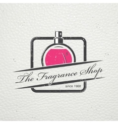 The fragrance shop exclusive boutique with vector